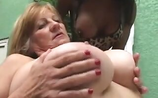 Ebon Transsexual anb Golden-Haired Granny - Part 1