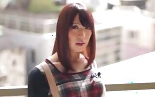 Japanese Shemale With MILF Gets Creampied