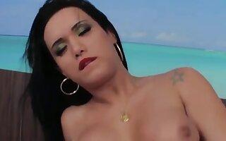 Brazilian shemale bareback