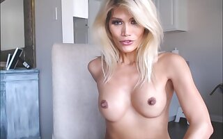 Sexy blonde with puffy nipples