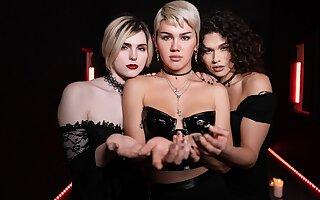 Alisia Rae & Dante Colle & Ella Hollywood in Bitch Craft Part 3 - TransAngels