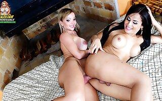 Carla Novaes & Bruna Butterfly Lesbian Love - Brazilian-Transsexuals