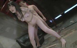 Horny Japanese model in Amazing Guy Fucks, BDSM JAV movie