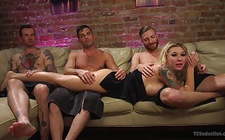 Slut Pike Heart teases with fishnet stockings together with gets fucked enduring