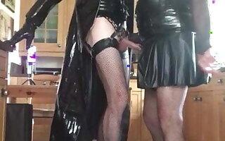 Carole & Alison in PVC and Rubber