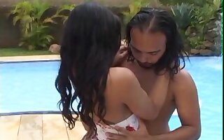 Small gut shemale Layla Amorim moans during passionate sex